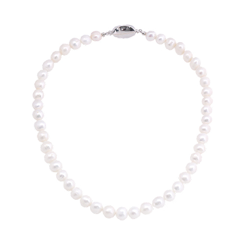 Fresh-Water Pearl Line Necklace