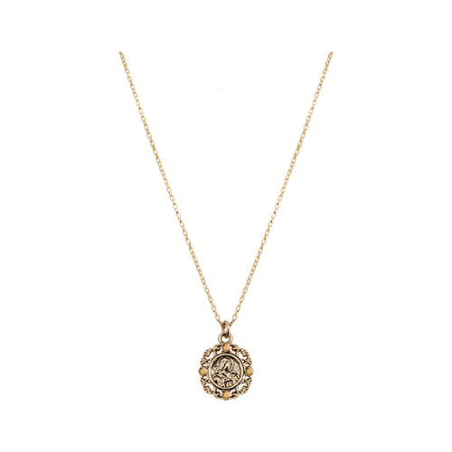 Byzantine Mini Coin Pendant Necklace [Gold]