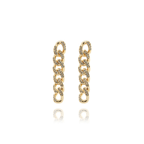 Chain Drop Earrings-L