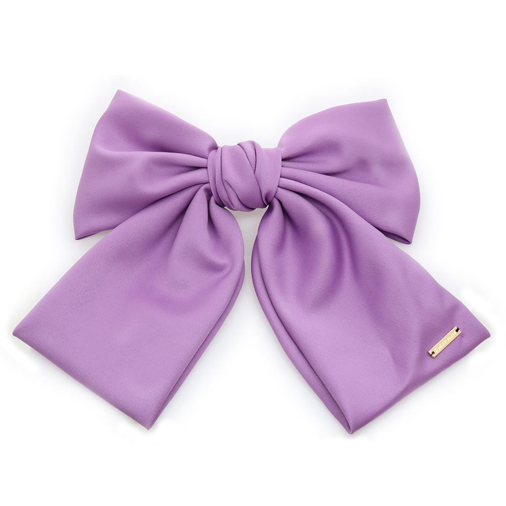 Large Size Ribbon Satin Auto Hairpin