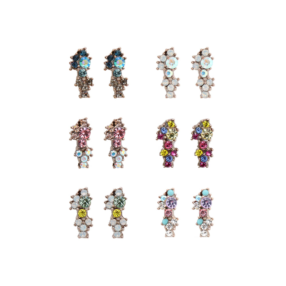 Gradation Color Mix Earrings