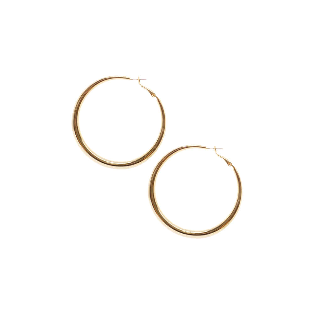 Slim Circle One Touch Earrings