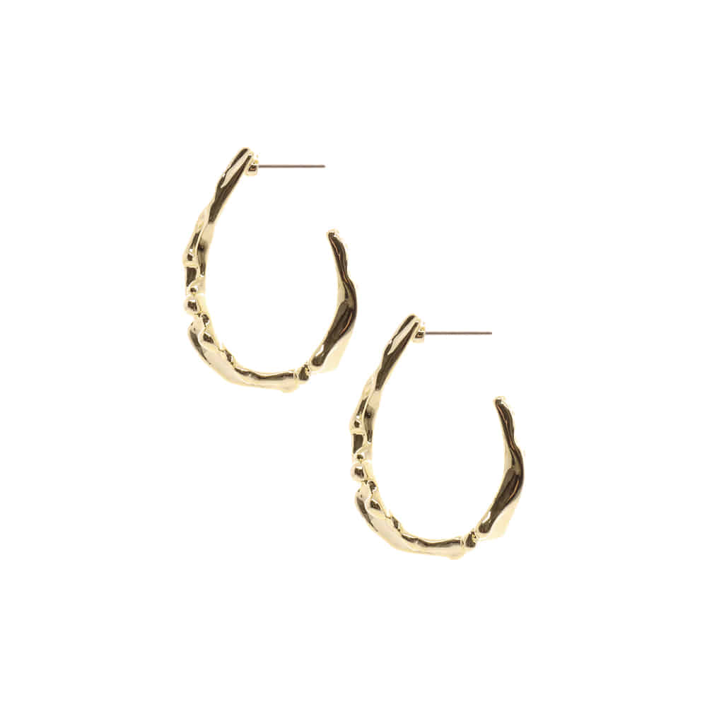 Crumple U Shape Earrings